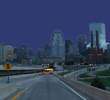 Boston Skyline At Daybreak by Schoolhouse62