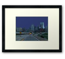 Boston Skyline At Daybreak Framed Print