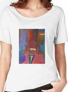 Violin Abstract Two Women's Relaxed Fit T-Shirt
