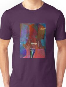 Violin Abstract Two Unisex T-Shirt