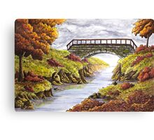 Tranquil Autumn River  Canvas Print