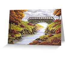 Tranquil Autumn River  Greeting Card