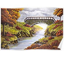 Tranquil Autumn River  Poster