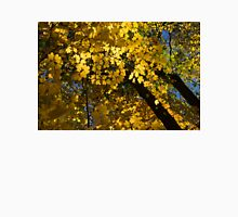 Golden Canopy - Look Up to the Trees and Enjoy Autumn - Horizontal Right Unisex T-Shirt