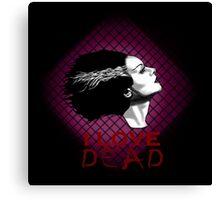 I Love Dead, Bride of Frankenstein Canvas Print