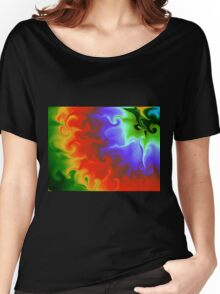 Wild Psychedelic Rainbow Women's Relaxed Fit T-Shirt