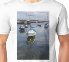 Boat Reflections in Brixham Harbour Unisex T-Shirt