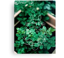 Green Totoro Canvas Print