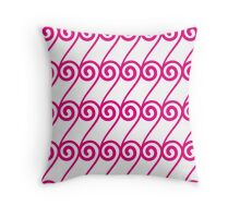 continuous swirls Throw Pillow