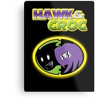 Hawk & Croc Lock-On shirt Metal Print
