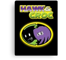 Hawk & Croc Lock-On shirt Canvas Print