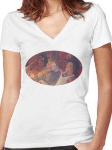 Boys Women's Fitted V-Neck T-Shirt