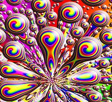 Psychedelic Rainbow Orb Warp Design by Sookiesooker