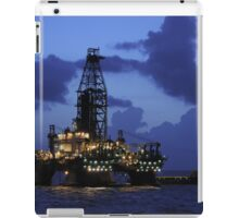 Oil Rig and Vessel at Night iPad Case/Skin