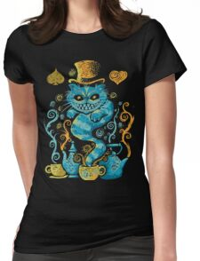 cat gothic Womens Fitted T-Shirt
