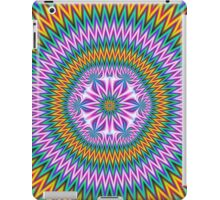 Floral Motif in Chevron Rings iPad Case/Skin