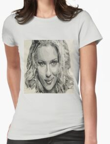 Scarlett Johansson Fanart Womens Fitted T-Shirt