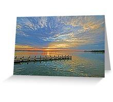 Intracoastal Sunrise  Greeting Card