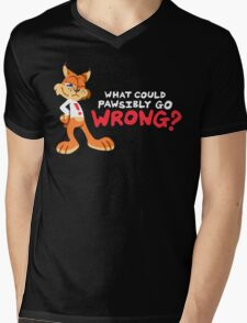 What Could PAWsibly Go Wrong? Mens V-Neck T-Shirt