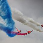 The Corkscrew - Red Arrows Farnborough 2014 by Colin J Williams Photography