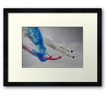 The Corkscrew - Red Arrows Farnborough 2014 Framed Print