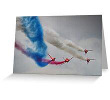 The Corkscrew - Red Arrows Farnborough 2014 Greeting Card