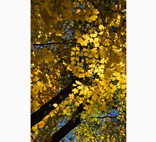 Golden Canopy - Look Up to the Trees and Enjoy Autumn - Vertical Left Unisex T-Shirt