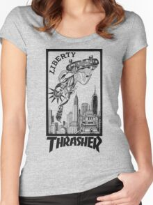 Thrasher Liberty Women's Fitted Scoop T-Shirt