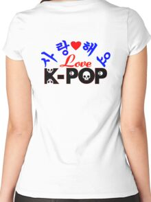 ♥♫Love-SaRangHaeYo K-Pop Fabulous K-Pop Clothes & Phone/iPad/Laptop/MackBook Cases/Skins & Bags & Home Decor & Stationary & Mugs♪♥ Women's Fitted Scoop T-Shirt