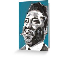 Muddy Waters Delta Blues Musician Greeting Card