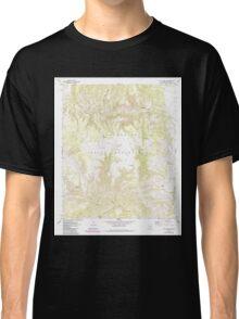 USGS TOPO Map Arizona AZ Willow Mtn SE 314131 1967 24000 Classic T-Shirt