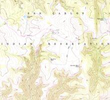 USGS TOPO Map Arizona AZ Willow Mtn SE 314131 1967 24000 Sticker