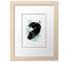 Sleeping Wolf illustration Framed Print