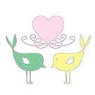Birds in Love by IamJane--