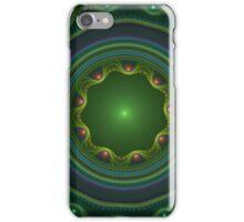 Green Disc Fractal Art iPhone Case/Skin