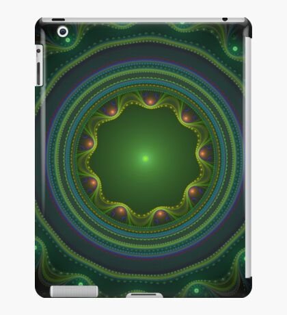 Green Disc Fractal Art iPad Case/Skin