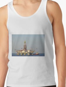 Off Shore Oil Rig with Helicopter and Boat Tank Top