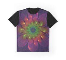 Flower Power Fractal Art Graphic T-Shirt