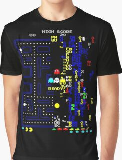 Pacman Level 256 glitch Graphic T-Shirt