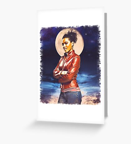 Martha Jones (vignette) Greeting Card