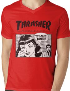Thrasher - Why Can't My Boyfriend Skate? Mens V-Neck T-Shirt