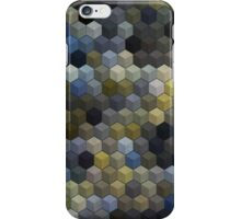 Abstraction #020 Blue Gold Cubes iPhone Case/Skin