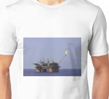 Oil Production Platform With Flare Unisex T-Shirt