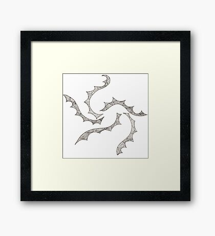 Flowing Lines, Parallel Rays Framed Print