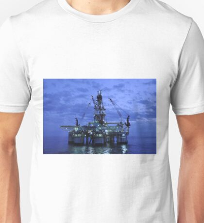 Oil Rig at Twilight Unisex T-Shirt