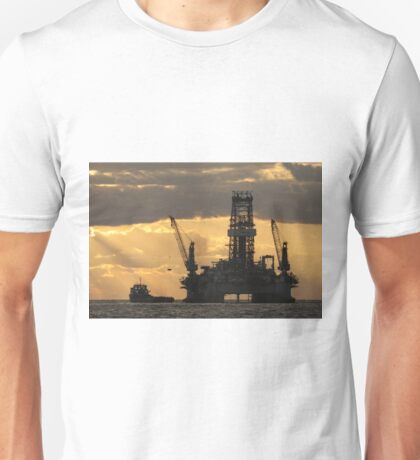 Offshore Rig at Dawn Unisex T-Shirt
