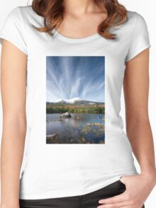 Sandy Stream Pond in Baxter State Park, Maine Women's Fitted Scoop T-Shirt