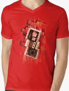 Blurry NES Mens V-Neck T-Shirt