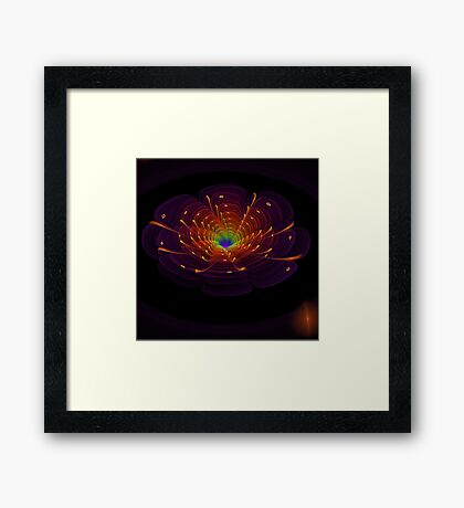 Flower Fractal Art Framed Print