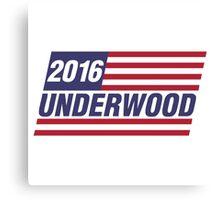 Frank Underwood President 2016 Canvas Print